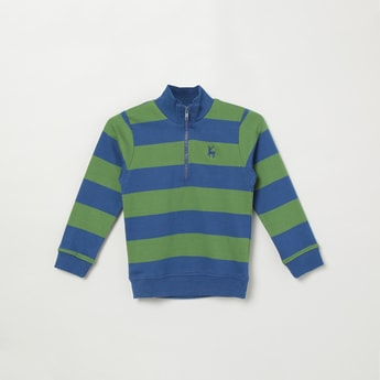 MAX Striped Sweatshirt with Zipper