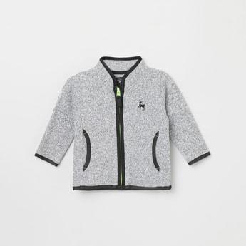 MAX Solid Sweatshirt with Zip-Closure