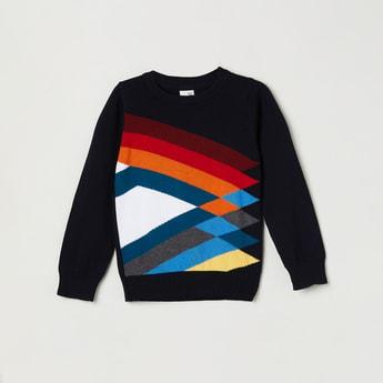 MAX Checked Crew Neck Sweater