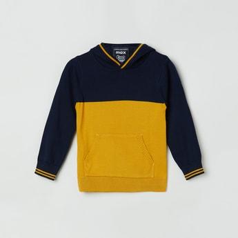 MAX Colourblocked Hooded Sweater