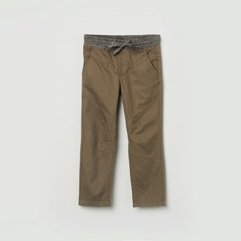 MAX Solid Elasticated Casual Trousers
