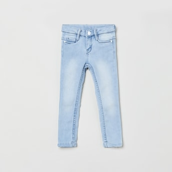 MAX Stonewashed 5-Pocket Slim Jeans