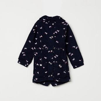 MAX Printed Longline Hooded Jacket
