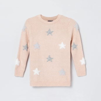 MAX Patterned Full Sleeves Sweater