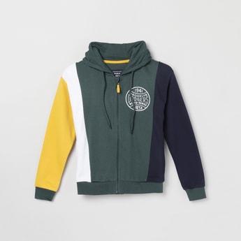 MAX Colourblocked Zip-Closure Hooded Sweatshirt