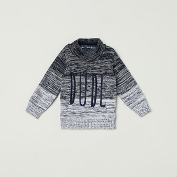 MAX Embroidered Full Sleeves Sweater