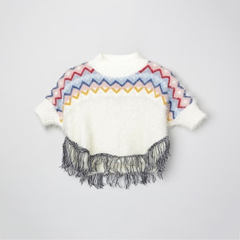 MAX Knitted Sweater With Tassels Detailing