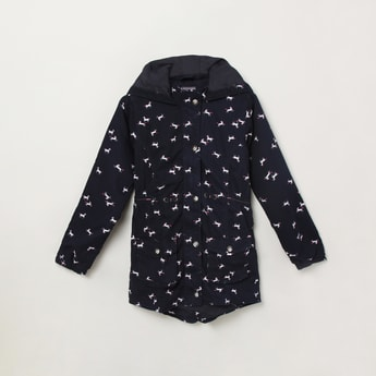 Max Printed Hooded Jackets with Flap Pockets