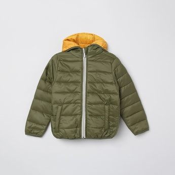 MAX Solid Padded Bomber Jacket with Protective Cover