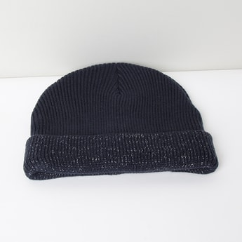 MAX Patterned Knit Speckled Beanie