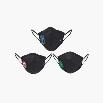 MAX Kids Printed Face Mask- Set of 3 - 7-10 Y
