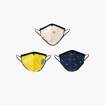 MAX Girls Printed Face Mask- Set of 3 - 7-10 Y