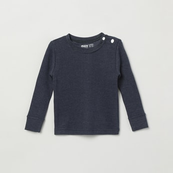 MAX Ribbed Full Sleeves Thermal Sweatshirt