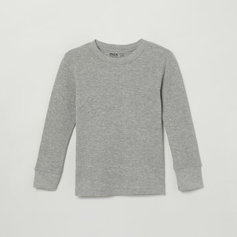 MAX Solid Crew Neck Thermal T-shirt