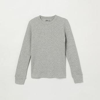 MAX Solid Crew Neck Sweater