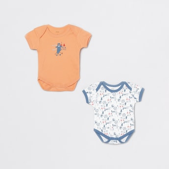 MAX Printed Knitted Bodysuit- Set of 2