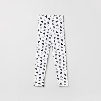 MAX Heart Print Elasticated Leggings