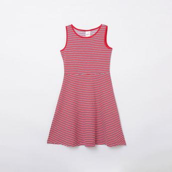 MAX Striped A-Line Dress