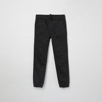 MAX Camouflage Print Drawstring Waist Jogger Jeans