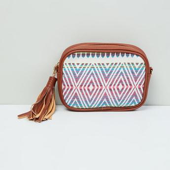 MAX Printed Sling Bag with Tassels