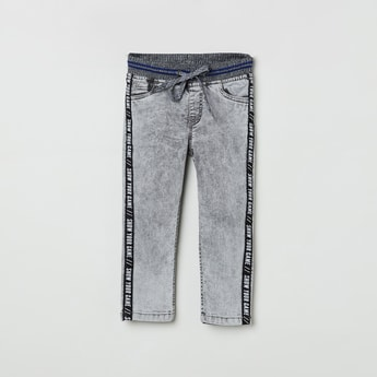 MAX Printed Slim Fit Elasticated Jeans