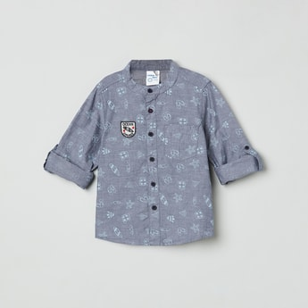 MAX Printed Mandarin Collar Shirt