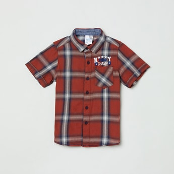 MAX Checked Half-Sleeves Casual Shirt