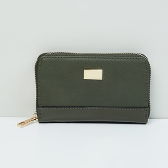 MAX Solid Zip-Around Wallet