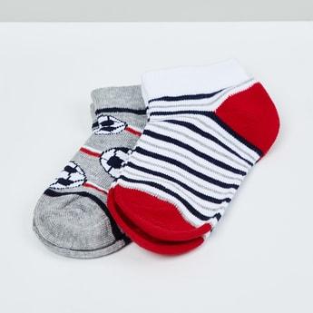 MAX Kids Patterned Ankle-Length Socks - Set of 2 - 2-4 Y