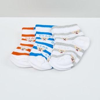 MAX Kids Striped Socks- Pack of 3 - 1-2 Y