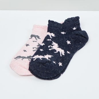 MAX Kids Patterned Knit Socks - Pack of 2 - 7-10 Y