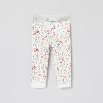 MAX Floral Print Joggers with Slant Pockets