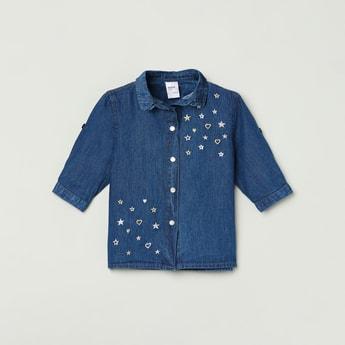 MAX Printed Denim Shirt