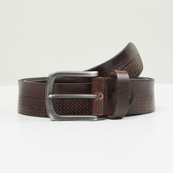 MAX Reptilian Pattern Genuine Leather Casual Belt