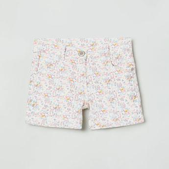 MAX Floral Print Denim Shorts