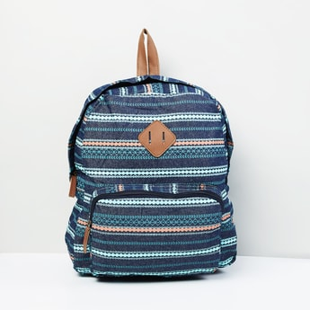MAX Printed Zip-Closure Backpack