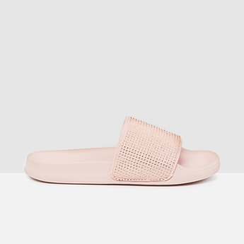 MAX Embellished Open-Toed Sliders