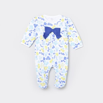 MAX Printed Sleepsuit with a Bow Tie