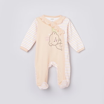 MAX Printed Sleepsuit with Ruffle Detail