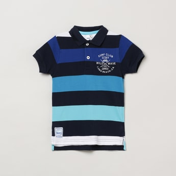 MAX Colourblocked Polo T-shirt