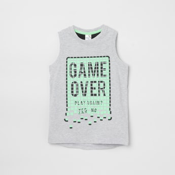 MAX Printed Sleeveless T-shirt