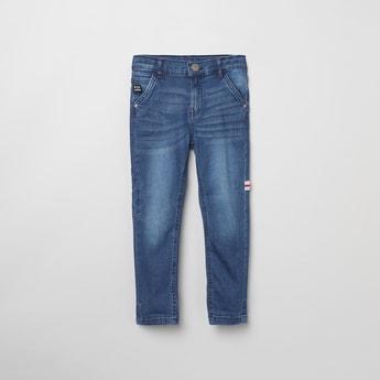 MAX Stonewashed Slim Fit Denim Jeans