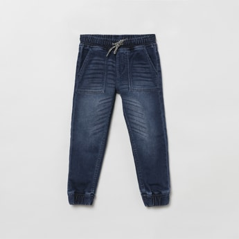 MAX Lightwashed Slim Fit Elasticated Jeans