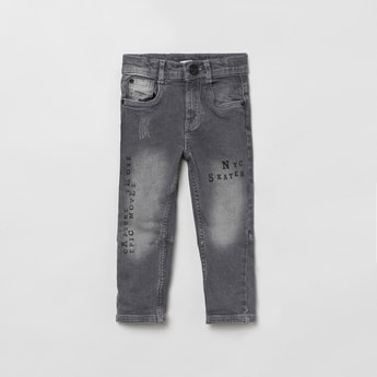 MAX Printed Slim Fit Denim Jeans
