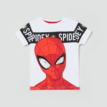 MAX Spiderman Print Crew Neck T-shirt