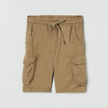 MAX Solid Elasticated Cargo Shorts