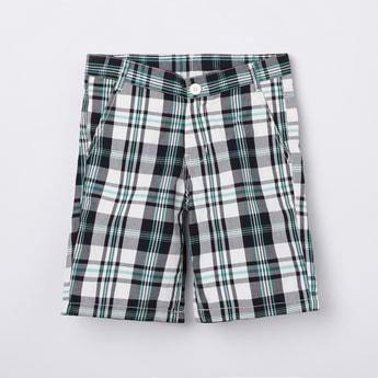 MAX Checked Woven Bermuda Shorts