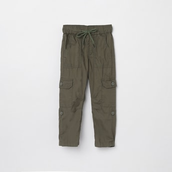 MAX Solid Full Length Cargo Trousers