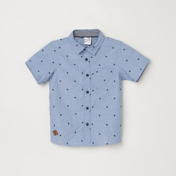 MAX Polka Dot Print Regular Fit Casual Shirt
