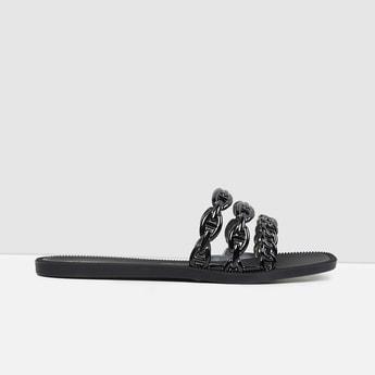 MAX Solid Open-Toe Flats